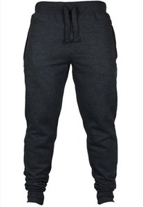 Wholesale Mens Casual Clothing Sports Jogger Pants Black Grey Autumn Spring Long Pencil Pants Loose Wear Trousers