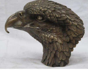Wholesale 8 quot CHINESE China Sino fengshui Bronze Lucky Animals Birds Hawk Eagle statue
