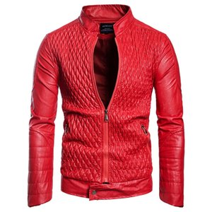 Wholesale Mens Designer PU Leather Jacket Male Casual Faux Leather Jacket Autumn Winter Thin Coat Free Shipping