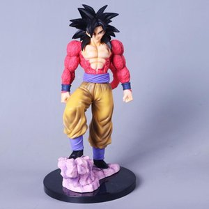 Wholesale Dragon Ball Z Son Goku Super Saiyan Red Style Battle Edition PVC Action Figure Kakarotto Collectible Model Toy cm