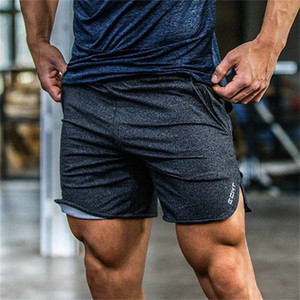 Mens gym cotton shorts Run jogging sports Fitness bodybuilding Sweatpants male profession workout Crossfit short pants