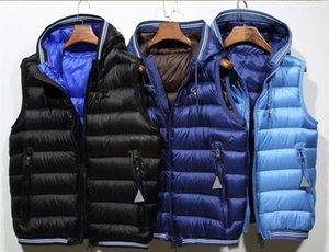 Wholesale Brand men French Warmer anorak gilets winter hooded vest High Quality Warm Plus Size Man Down vest