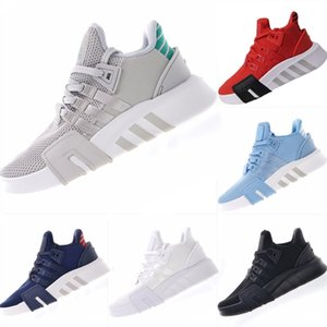 Wholesale With Box Support EQT Bask Primeknit Basketball Boots Support EQT Bask Mix Rubber Built in Buffer Foam Mid Top Sports Shoes