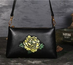 embossed rose bag classical flower shoulder wholesale Peony lotus Kingfisher sunflower bags cross body handbag women purse SG Fr US EUR on Sale