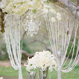 Wholesale High Quality30meters ft Roll Diy Iridescent Garland Diamond Acrylic Crystal Beads Strand Shimmery Wedding Tree Christmas Decoration