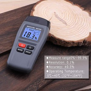 Wholesale Quality MT15 Wood Moisture Meter Two Pins Digital Damp Detector With Large LCD Display Portable Wood Humidity Tester