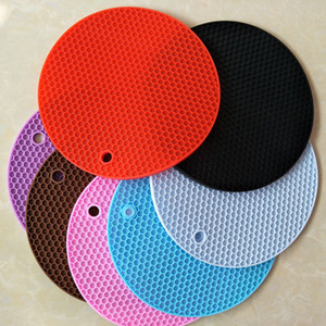 DIY cooking Mould slicone Honeycomb Mat Non-slip Heat Pad Food Platform  isolated pad