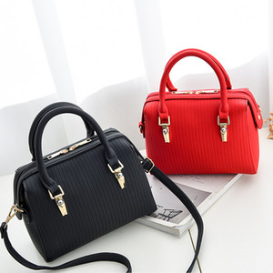 Fashionable women's handbag, pure color, pu bag, foreign trade hot selling, large capacity bag on Sale