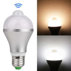 Wholesale Motion Activated LED Bulb E27 W W Aluminum Design PIR Infrared Detection Auto LED Lamp with Motion Sensor Night Light
