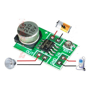 Wholesale 12v mini amplifier speaker for sale - Group buy Freeshipping Mini LM386 Audio Power Amplifier Board V V Adjustable volume mW