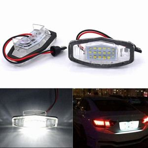 Wholesale 2Pcs Error Free White LED Number License Plate Light Lamp For Honda Civic City Legend Accord