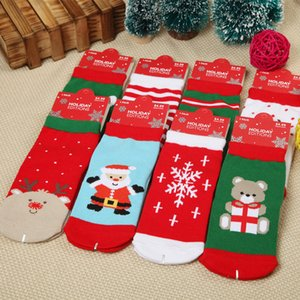 Wholesale 1 years old Cotton Cute Christmas Design Boy Girl Socks Slip resistant Cartoon New Born Baby Children s Christmas Socks bag