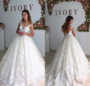 2018 Elegant Lace Wedding Dresses Sheer v Neck Cap Sleeves Maternity Pregnant applique Backless Beach Plus Size Custom Made Bridal Gowns