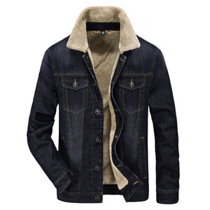 Wholesale 2018 new men jacket and coats clothes denim jacket fashion men thick warm winter outwear man cowboy M XL