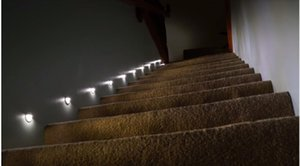 Wholesale led stair Light v w W Recessed Led Step lamp Wall Lights In Step lamps Embedded concrete walls lighting