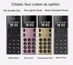 Small ultrathin metal body lMobile Phone AEKU AIEK A5 Ultra Thin 0.96Inch tiny Screen Bluetooth Dialer Cell Phone