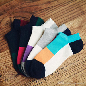 High Quality Men Socks Male Casual Colorful Striped Socks Men Short Cotton Ankle Socks For Men Low Cut Socks 5Pairs