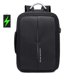 Mark Ryden New Anti-thief USB Recharging Men Backpack NO Key TSA Lock Design Men Business Fashion Message Backpack Travel