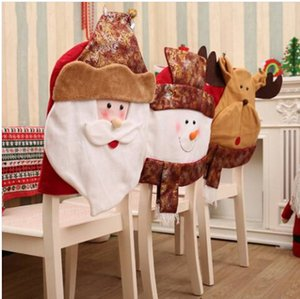 Wholesale Sales Wholesales Christmas Chair Cover Chair Back Cover Xmas Dinner Table Party Decor