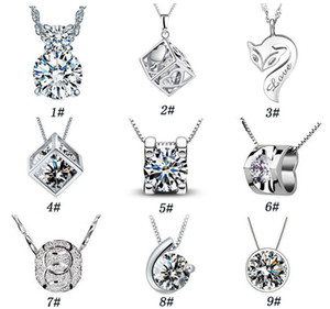Wholesale 925 sterling silver jewelry fashion Magic Cube with silver pendant necklace item ornaments belief Valentine s Day to send his