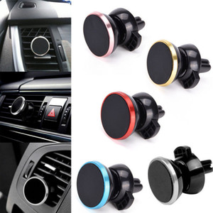 Magnetic Car Mount Air Vent Stand Universal car phone holder Mini Magnet bracket for Smartphone Phone car Holder Stands 25PCS GGA77