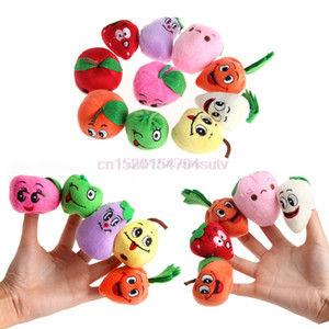 Wholesale vegetable puppets resale online - 10X Family Fruits amp Vegetable Finger Puppets Cloth Doll Baby Educational Hand Toys H055