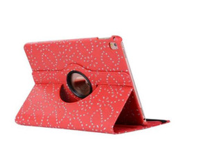 Wholesale 360 degree Rotary Rotating Stand Diamond Bling Rhinestone Flower Flip PU Leather Case for ipad Mini New ipad