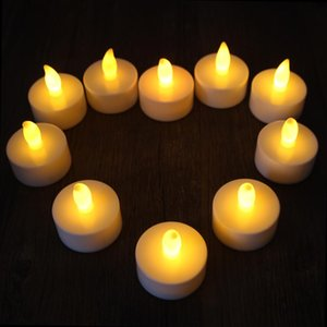 Wholesale Flicker Tea Candles Light New LED Flameless Tealight Battery Operated for Wedding Birthday Party Christmas Decor
