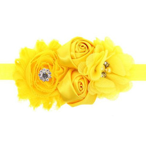 2018 Hair Bands Accessories Lovely Kids Girls Lace Sunflower Two Rose Flowers Pearl Rhinestone Hairband Headband