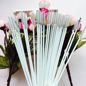 17.3cm * 2.3cm * 5mm 1500 Piece Stainless Steel Wire Plastic Handle Straw Cleaner Cleaning Brush Straws Cleaning Brush Bottle Brush