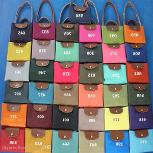 Wholesale New fashion color female Korean new satchel nylon Oxford leisure trend shoulder bag with leather handle 37colors choose