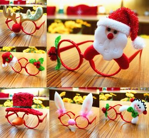 Wholesale 10PCS LOT Funny Christmas Ornaments Glasses Frames Evening Party Toy Kids Xmas Gifts Decor For party