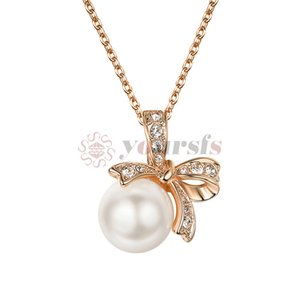 Wholesale Yoursfs Necklace Zircon Pearl Necklace Rose Gold Mother s Day Thanksgiving Fashion For Birthday Gift