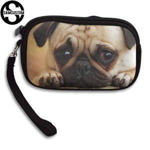 SAMCUSTOM Custom cute pug 3D Print New Women's small purse male and female Small wallet Fashion Casual Girl Coin Purse on Sale