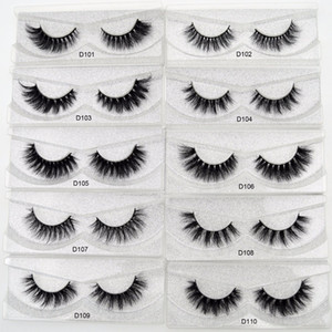 Wholesale curly eyelashes resale online - Mink Eyelashes D Mink Lashes Thick HandMade Full Strip Lashes Cruelty Free Luxury Mink Curly Lashes D series