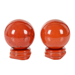 Wholesale natural crystal ball sphere stands resale online - 1 cm Natural Crystal Red jasper and green east mausoleum ball Spheres healing rainbow gemstone balls stand pedestal