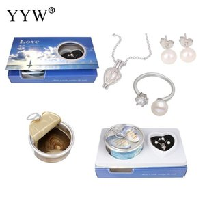 Wholesale YYW Natural Real Shell Oyster Wish Pearl Kit finger ring earring necklace Freshwater Pearl Pendant Necklace Sets Women Mom
