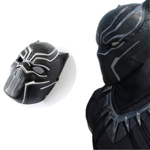 Wholesale Horror Mask Black Panther Helmet Face Masks Cos America Captain Halloween Masquerade Party Makeup Show Decoration yk UU