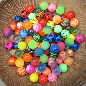 Wholesale 32MM Elastic Ball Bouncy Balls Printing Scrub Rubber Bouncing Balls Decompression Toy Random Styles kids toy