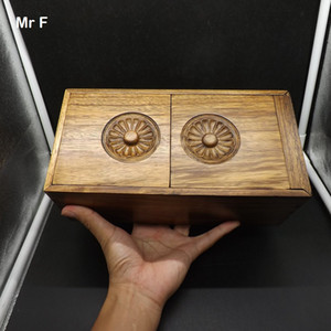 Wholesale 26 cm Fancy Elm Wood Magic Box Puzzle Special Mechanism Game Toy Brain Teaser Chinese Culture Characteristic Old Ancient Jewelry Box