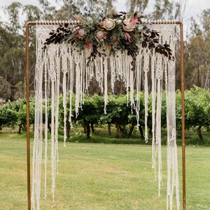 Macrame Wedding Decoration for Reception Boho Fiber Curtain Wall Hanging Macramé Handwoven Backdrop Bohemian New Arrival NB705