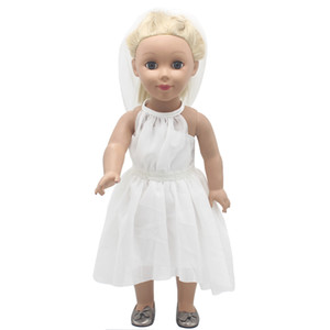 Wholesale American Girl Doll Clothes White Wedding Bride Wedding Dresses For inches Doll Alexander Dress Doll Accessories X