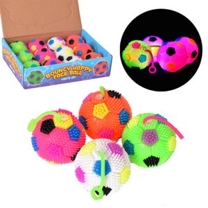 Wholesale Kids Light Up Football Stress Balls Bounce LED Flashing Baby Toys Cosplay Costume Accessories