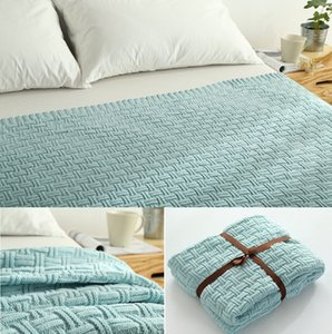 Wholesale CAMMITEVER Cotton High Quality Yarn Knitted Handmade Crochet Blanket Throw Bed Sofa Airplane Baby Blanket Bedspread Cover