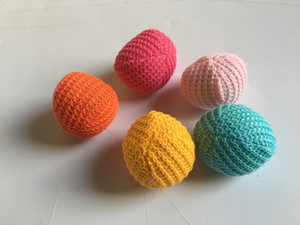 Free shipping pet cat kitten playing toys wool ball with catnip mixed colors 30pcs lot