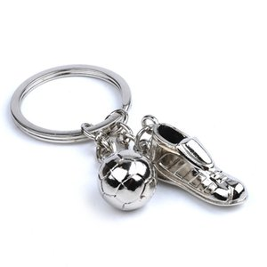 Wholesale 2018 Russia World Cup Football Keychain New Creative Soccer Shoes Keys Buckle Metal Key Ring Gift Hot Sale hy C