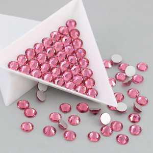 SS3-SS30 No Hotfix Rhinestones for nails decoration Flatback Crystals and stones crafts Rhinestone for handicrafts (Rose)