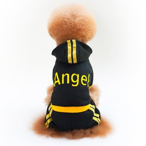 Autumn Winter Dog Clothes Puppy Apparel Cotton Warm Coats Jackets Lovely Angel Sweater Black Pink Pet Supplies 15hm bb