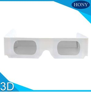 Wholesale 50pcs degree Cheap Paper Cardboard Linear Polarized D Glasses Passive Paper D Glasses Disposable Use