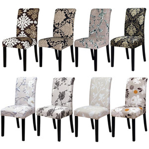 Printing Chair Cover Elastic seat chair covers for Restaurant Dining banquet hotel Christmas home decoration gift